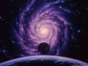 Universum blauw